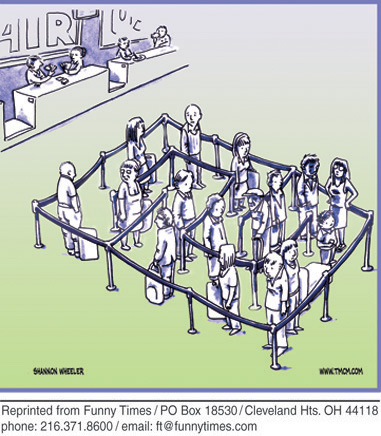 Funny Wheeler airport maze cartoon, September 26, 2012
