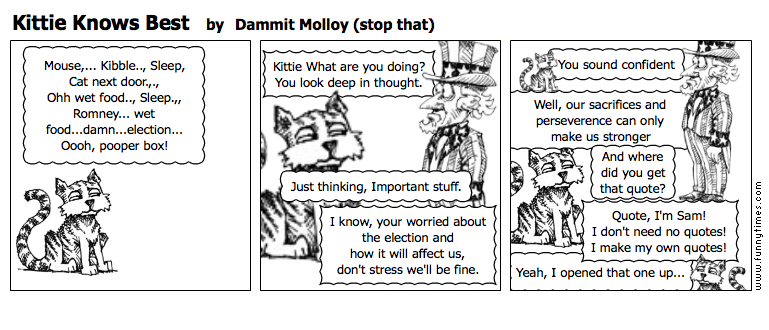 Kittie Knows Best by Dammit Molloy stop that