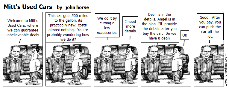 Mitt's Used Cars by john horse