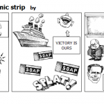 Boston tea party comic strip