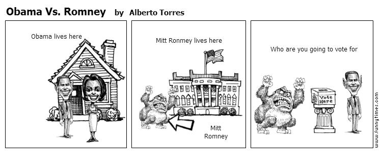 Obama Vs. Romney by Alberto Torres