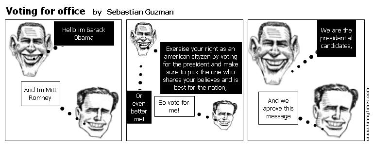 Voting for office by Sebastian Guzman