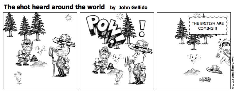 The shot heard around the world by John Gellido