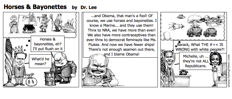 Horses  Bayonettes by Dr. Lee