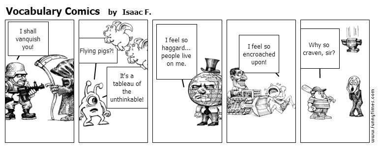 Vocabulary Comics by Isaac F.