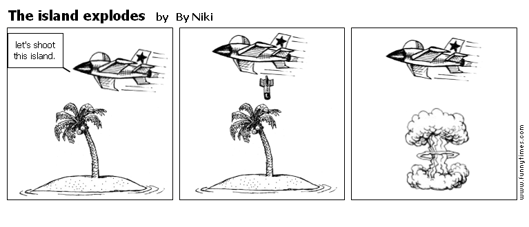 The island explodes by By Niki