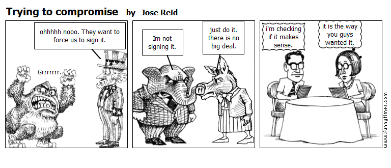 Trying to compromise by Jose Reid