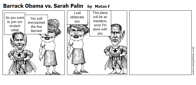 Barrack Obama vs. Sarah Palin by Matan F