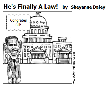 He's Finally A Law by Sheyanne Daley
