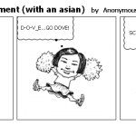 dove soap advertisement with an asian