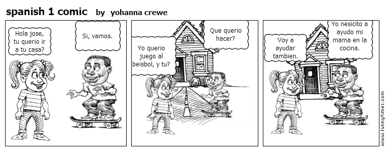 spanish 1 comic by yohanna crewe