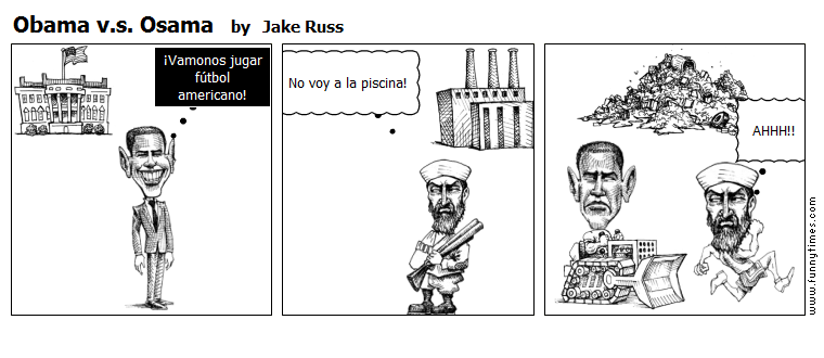 Obama v.s. Osama by Jake Russ