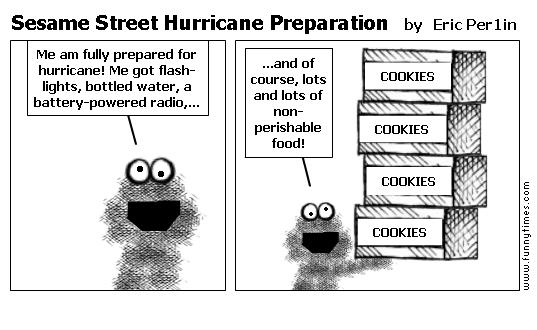Sesame Street Hurricane Preparation by Eric Per1in