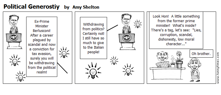 Political Generostiy by Amy Shelton