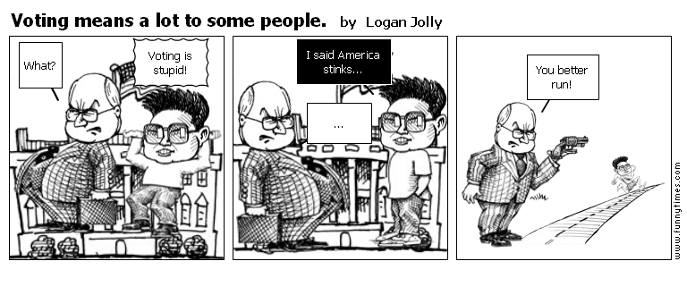Voting means a lot to some people. by Logan Jolly