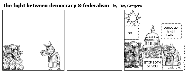 The fight between democracy  federalism by Jay Gregory