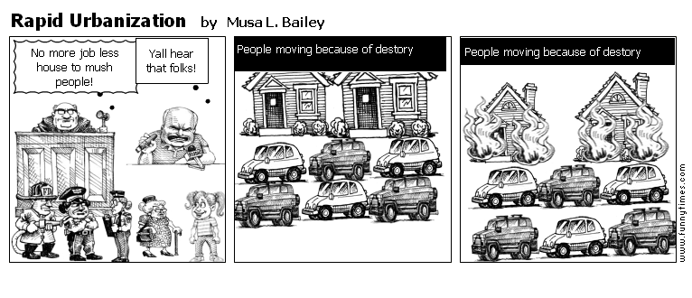 Rapid Urbanization by Musa L. Bailey