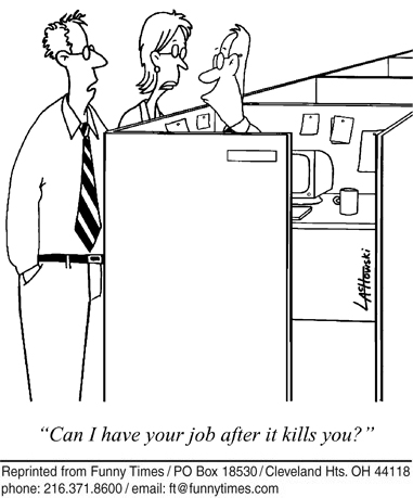 Funny death work office  cartoon, October 03, 2012
