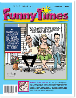 Funny Times October 2012 issue cover