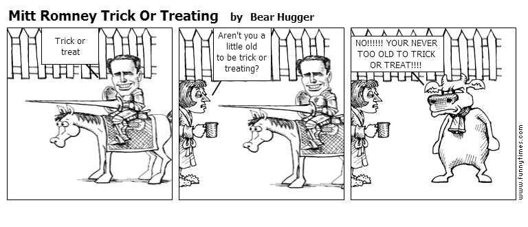 Mitt Romney Trick Or Treating by Bear Hugger