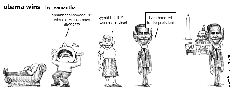 obama wins by samantha