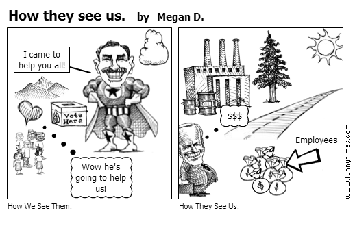 How they see us. by Megan D.