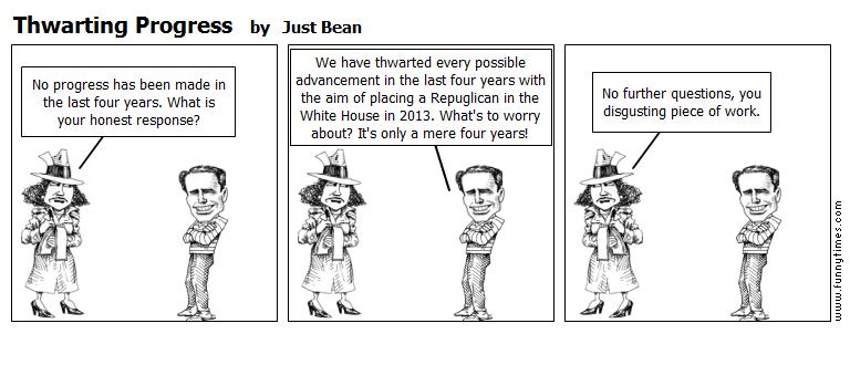 Thwarting Progress by Just Bean