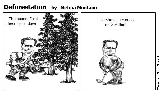 Deforestation by Melina Montano