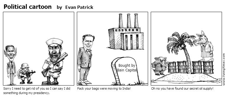 Political cartoon by Evan Patrick