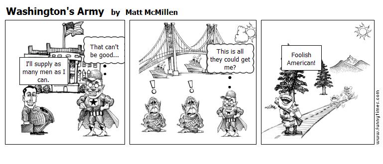 Washington's Army by Matt McMillen