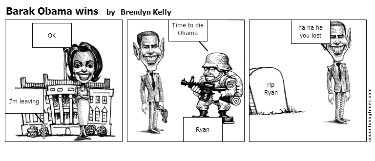 Barak Obama wins by Brendyn Kelly