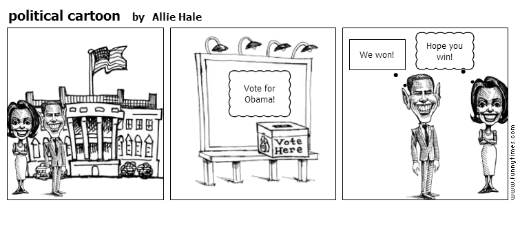 political cartoon by Allie Hale