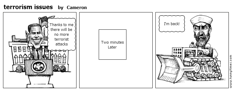 terrorism issues by Cameron