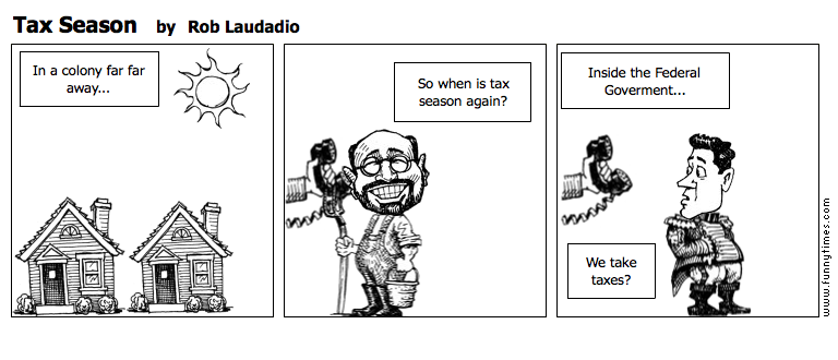 Tax Season by Rob Laudadio