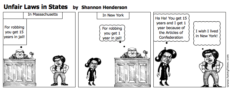 Unfair Laws in States by Shannon Henderson