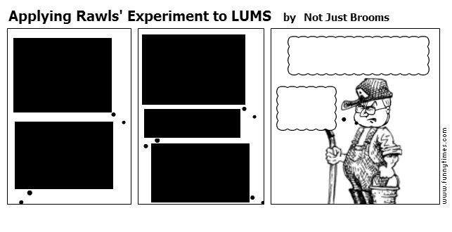 Applying Rawls' Experiment to LUMS by Not Just Brooms