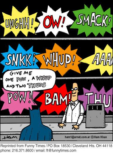 Funny Bill television superhero  cartoon, November 07, 2012