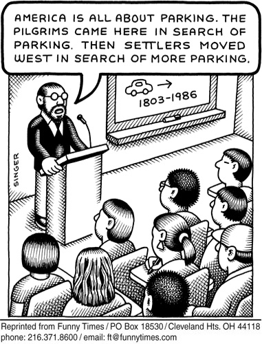 Funny singer parking history  cartoon, November 21, 2012
