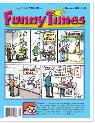 Funny Times November 2012 issue cover