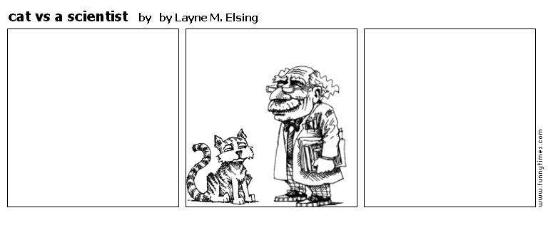 cat vs a scientist by by Layne M. Elsing