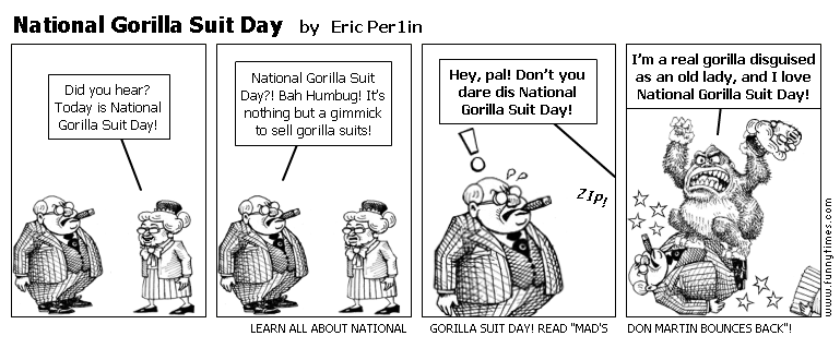 National Gorilla Suit Day by Eric Per1in