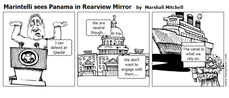 Marintelli sees Panama in Rearview Mirro by Marshall Mitchell