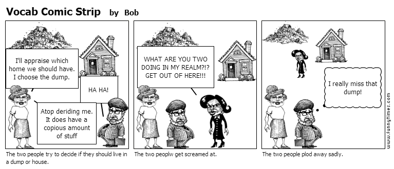 Vocab Comic Strip by Bob