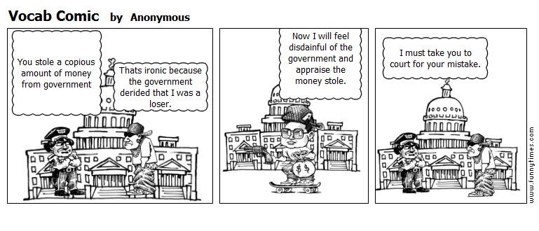 Vocab Comic by Anonymous