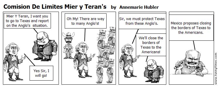 Comision De Limites Mier y Teran's by Annemarie Hubler