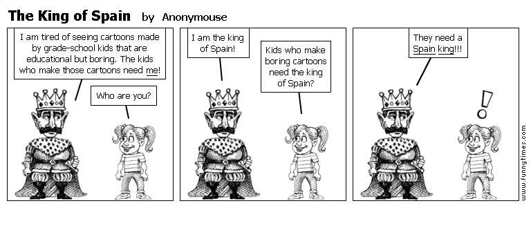 The King of Spain by Anonymouse