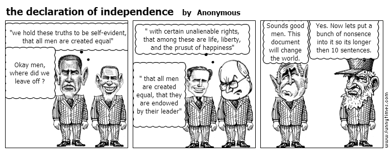 the declaration of independence by Anonymous