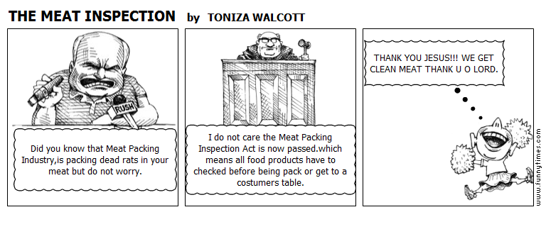 THE MEAT INSPECTION by TONIZA WALCOTT