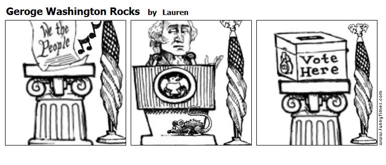 Geroge Washington Rocks by Lauren