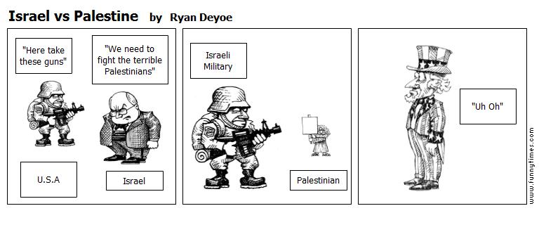Israel vs Palestine by Ryan Deyoe